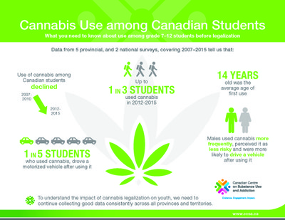 Cannabis Study - Canadian Youth Infographic